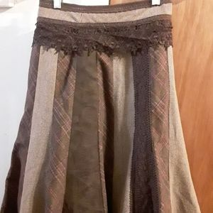 Brown lacy skirt, size 18W